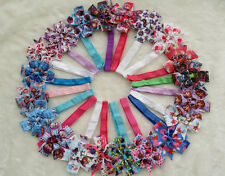 """20 pc 3.5"""" Baby girl  grosgrain ribbon hair bow boutique with hairbandheadbands"""