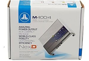 JL AUDIO M400/4 MARINE AMPLIFIER 400 WATTS RMS 4-CHANNEL FREE SHIPPING