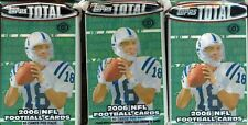 TRADING CARDS TOPPS 3 BOOSTERS 2006 NFL FOOTBALL