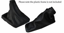 FITS NISSAN  PATHFINDER R51 2006 TO 2012  BLACK LEATHER GEAR BOOT+HANDBRAKE BOOT