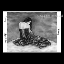*WAITING* Gothic Fantasy Art A4 Photo Print By Zindy S. D. Nielsen