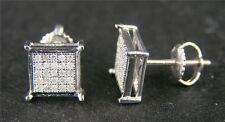 MEN N LADIES GOLD 7 MM DIAMOND STUD EARRINGS .75 C LOOK