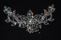 Bridal Sew On Dress Applique Crystal Rhinestone Wedding Supply Trim A478