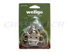 New Wellgo RC-8 MTB Pedal SPD Cleats For Look Style Shoes Metal Gray