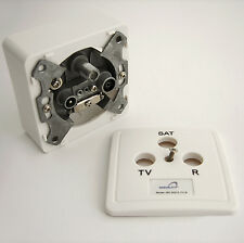 3 way  Wall Socket TV–SAT–RF Terrestrial Satellite Radio FM