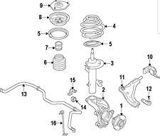 PAIR MINI OEM 07-11 Cooper Front Suspension-Strut 31316782210 and 31316782209 LR