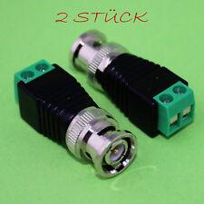 2x BNC Adapter Stecker Kabel Verbinder Schraubklemme Terminalblock Set 2 (123