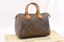 LOUIS VUITTON Monogram Speedy 25 Hand Bag M41528 LV Auth sa1080