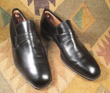 $$$ Dack's Custom Grade High vamp Chiseled toe box Black Loafers size USA- 8.5 D