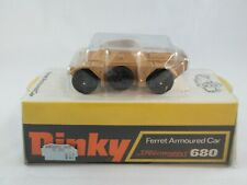 Dinky Toys 680 Ferret Armoured car boxed tan