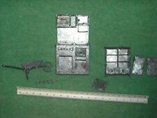 vintage metal dollhouse furniture handmade pull drawers wheelbarrow needsrepair