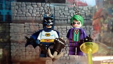 Batman & Joker Mismatched Earrings Minifigures DC Comics Hypoallergenic