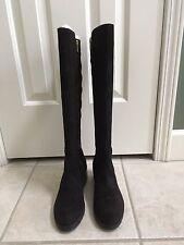 New Salomon Calvin Klein Suede Knee High Boots - Dark Brown - 9.5