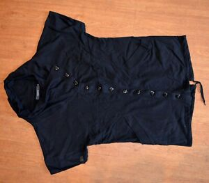 Women's Top BLEND SHE Size L Black 100% Cotton Used In Great Condition