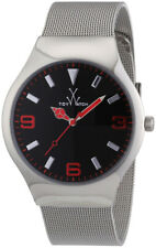 ToyWatch Mesh Stainless Steel Mens Watch Black Dial MH02SL