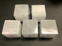 Wholesale Bulk Lot 5 Pack Of Selenite Crystal Cube Carved Crystal Decor Cubes