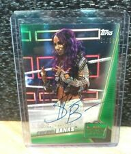 2019 Topps WWE Money In The Bank - Sasha Banks - Autograph Card - GREEN #87/99