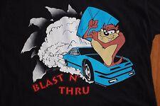 Vintage 90's TAZ TASMANIAN DEVIL LOONEY TUNES Pit Crew NASCAR Racing T shirt L