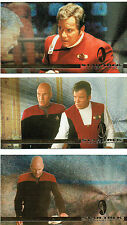 STAR TREK GENERATIONS SET OF 3 SPECTRA FOIL CARDS