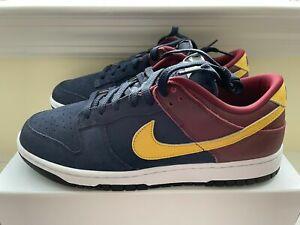 "Nike iD Dunk Low 365 By You Custom ""Barcelona"" Navy/Burgundy AH7979 992 Men's 9"