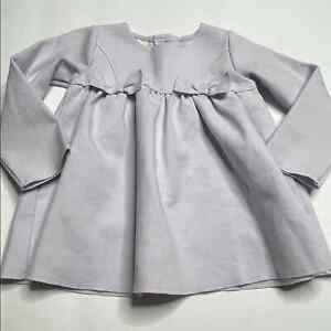 First Impressions Lilac Bow Dress Long Sleeve Size 18 Months Solid