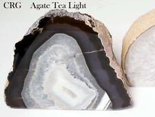 Natural Agate Geode Tea Light Candle Holder (Can5-nat)