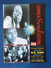 Summer Soul Festival - Concert Programme - 1998 - George Benson - Bb King - Ew&F