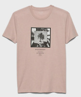 Banana Republic Men's Short Sleeve Graphic T-Shirts Pink M L XL NEW