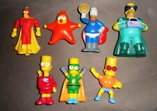 Lotto Stock 7 Figures THE SIMPSONS Burger King Bart Homer Maggie Radioactive Man