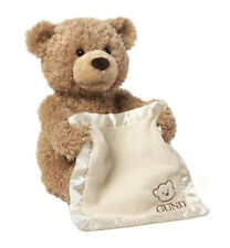 GUND Peek a Boo Bear Animated Stuffed Animal Doll 25cm