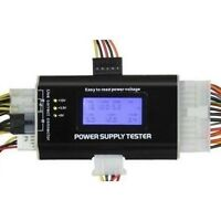 Digital LCD PC Computer PC Power Supply Tester 20/24 Pin 4 SATA HD HDD Testers