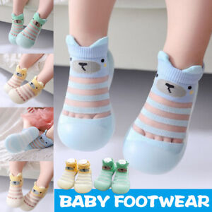 Breathable Baby Shoes Transparent Stripes Baby Toddler Walk Learning Socks Shoes
