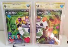 Star Trek/Green Lantern #1 A & B Signed Joe Corroney SDCC 2015 CBCS 9.8