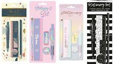 Stationery Sets ~ Choose Design, Pen~Pencil~Ruler, Rose Gold, Spots, Iridescent
