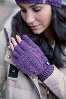 Ladies Heat Holder Cable 2.3 Tog Thermal Winter Fingerless Converter Gloves