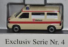 "Herpa Exclusiv Serie Nr. 4 - VW T4 KTW ""Malteser"", Rarität, H0 1:87, neu + OVP"