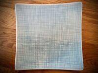 NEU! Teller quadratisch 17 flach aus der Serie Rosenthal Mesh Aqua