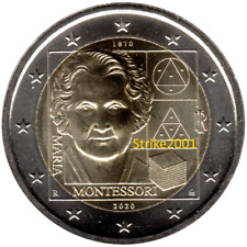 NEW !!! 2 EURO COMMEMORATIVO ITALIA 2020 FDC Maria MONTESSORI NEW !!!
