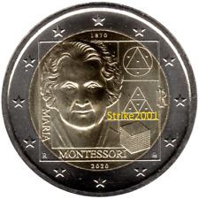 NEW !!! 2 EURO COMMEMORATIVO ITALIA 2020 FDC Maria MONTESSORI !! disponibile !!