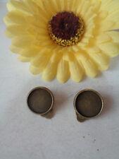 2 Ohrclips für 12,5mm Cabochon bronze