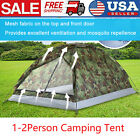 TOMSHOO 1-2 Person Camping Tent Beach Outdoor Tent Single Layer Camouflage USA