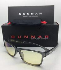 New GUNNAR Computer Glasses VERTEX 54-16 Smoke Frames with Amber Yellow Lenses