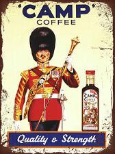 vintage retro style Camp coffee advert poster image metal sign wall door plaque