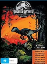JURASSIC PARK/WORLD COLLECTION (1993-2018) 5 MOVIE COMPLETE SET Au Rg4 DVD