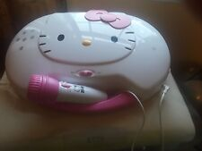 Hello Kitty CD KARAOKE CD Player W microphone handle easy to carry & open/close