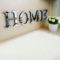 10cm A-Z 26 Alphabet Letters DIY 3D Mirror Acrylic Wall Sticker Home Mural Decor