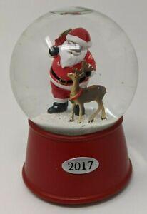 "Threshold Musical ""2017"" Water Globe ""Up On The Housetop"" - Santa & Raindeer"