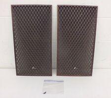 Vintage 1970s Sansui SP-1500 Wood Lattice Cloth Backed Speaker Grills GREAT LOOK