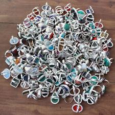 925 Sterling Silver Overlay 70Pcs Rose Blue Topaz Gemstone Wholesale Lot Rings