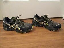 Used Worn Size 9.5 Asics Gel Nimbus 14 Shoes Black & Multi Color